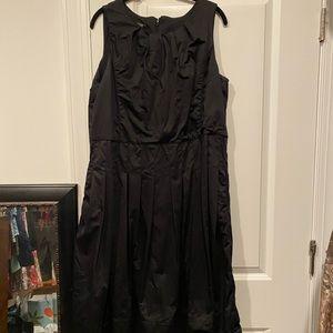 Women's size 14W black Talbots pleated dress